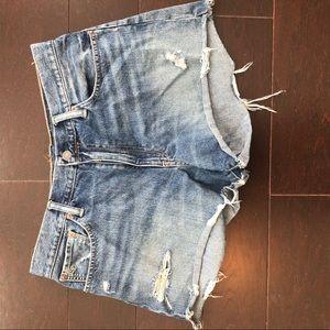 POLO raulph Lauren cutoff distressed shorts jean